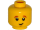 Part No: 3626cpb1195  Name: Minifigure, Head Dark Orange Eyebrows, White Pupils, Crooked Smile and Chin Dimple Pattern - Hollow Stud