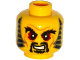 Part No: 3626cpb1324  Name: Minifigure, Head Black Bushy Eyebrows, Red Eyes, Moustache and Goatee, Sideburns, Wrinkles Pattern - Hollow Stud