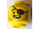 Part No: 3626cpb1331  Name: Minifigure, Head Beard Brown Stubble, Eyepatch, Open Grin, Missing Teeth Pattern - Hollow Stud