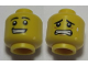 Part No: 3626cpb1480  Name: Minifigure, Head Dual Sided Black Eyebrows, White Pupils, Smile with Teeth / Scared Pattern - Hollow Stud