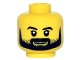 Part No: 3626cpb1495  Name: Minifigure, Head Black Eyebrows and Full Black Beard with Stubble, Smile, White Pupils Pattern - Hollow Stud