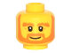 Part No: 3626cpb1512  Name: Minifigure, Head Beard Orange, Bushy Eyebrows, White Pupils, Wrinkles and Smile Pattern - Hollow Stud
