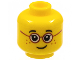 Part No: 3626cpb1565  Name: Minifigure, Head Child, Glasses with Red Round Frames, Black Eyebrows, Freckles Pattern - Hollow Stud