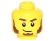 Part No: 3626cpb1596  Name: Minifigure, Head Beard Reddish Brown, Bushy Eyebrows, Sideburns, White Pupils, Lopsided Smile Pattern - Hollow Stud