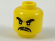 Part No: 3626cpb1906  Name: Minifigure, Head Black Thick Eyebrows and Moustache, Angry Expression Pattern - Hollow Stud