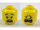 Part No: 3626cpb1928  Name: Minifigure, Head Dual Sided Black Eyebrows, Scared / Closed Eyes Crying Pattern - Hollow Stud