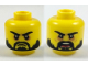 Part No: 3626cpb1931  Name: Minifigure, Head Dual Sided Beard Black, Black Eyebrows, Firm / Angry Open Mouth Pattern - Hollow Stud