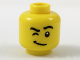 Part No: 3626cpb1950  Name: Minifigure, Head Black Eyebrows, Winking Right Eye, White Pupil Pattern - Hollow Stud
