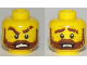 Part No: 3626cpb1968  Name: Minifigure, Head Dual Sided Beard Thick with Lines, Reddish Brown Thick Eyebrows, Moustache, Pupils, Angry / Disconcerted Pattern - Hollow Stud