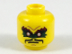 Part No: 3626cpb2070  Name: Minifigure, Head Dark Red Eyebrows, Dark Green Eye Paint, Black Moustache Pattern - Hollow Stud
