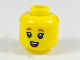Part No: 3626cpb2079  Name: Minifigure, Head Dark Orange Small Eyebrows, Small Open Mouth with Teeth and Tongue Pattern - Hollow Stud