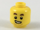 Part No: 3626cpb2146  Name: Minifigure, Head Dark Brown Eyebrows, Lopsided Grin, Medium Nougat Anchor Beard Pattern - Hollow Stud
