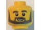 Part No: 3626cpb2199  Name: Minifigure, Head Beard with Thick Gray Eyebrows, Angular Beard, Open White Mouth, White Pupils Pattern - Hollow Stud