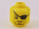 Part No: 3626cpb2242  Name: Minifigure, Head Black Eyepatch over Left Eye, Medium Nougat Crow's Feet, Reddish Brown Goatee Pattern - Hollow Stud