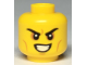 Part No: 3626cpb2283  Name: Minifigure, Head Angry Eyebrows, Cheek and Forehead and Chin Lines, White Pupils and White Teeth Pattern - Hollow Stud