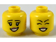 Part No: 3626cpb2309  Name: Minifigure, Head Dual Sided Female, Black Eyebrows, Dark Pink Lips, Smile Showing Teeth, Eyes Open / Eyes Closed Pattern - Hollow Stud
