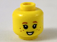 Part No: 3626cpb2335  Name: Minifigure, Head Child, Dark Orange Eyebrows and Freckles, Small Smile Pattern - Hollow Stud