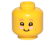 Part No: 3626cpb2354  Name: Minifigure, Head Dark Pink Eyebrows, Smile and Pink Cheeks Pattern - Hollow Stud