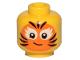 Part No: 3626cpb2378  Name: Minifigure, Head Female Orange Cat Face Paint Pattern - Hollow Stud