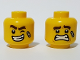 Part No: 3626cpb2439  Name: Minifigure, Head Dual Sided Bandage, Winking Left Eye, Lopsided Big Smile / Scared Pattern - Hollow Stud