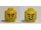 Part No: 3626cpb2571  Name: Minifigure, Head Dual Sided Dark Brown Beard Stubble, Dark Brown Thick Eyebrows, Grumpy / Open Mouth Smile Pattern - Hollow Stud