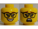 Part No: 3626cpb2589  Name: Minifigure, Head Dual Sided Female, Glasses, Braces, Open Smile / Scared Pattern - Hollow Stud