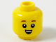 Part No: 3626cpb2597  Name: Minifigure, Head Child Reddish Brown Eyebrows, Small Open Smile with Top Teeth Pattern - Hollow Stud