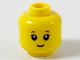 Part No: 3626cpb2601  Name: Minifigure, Head Child Reddish Eyebrows, Grin Pattern - Hollow Stud
