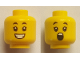 Part No: 3626cpb2649  Name: Minifigure, Head Dual Sided Child Black Eyebrows, Smile with Teeth / Surprised Pattern - Hollow Stud