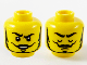 Part No: 3626cpb2750  Name: Minifigure, Head Dual Sided Black Eyebrows, Thin Moustache and Beard, Raised Right Eyebrow / Eyes Closed Pattern - Hollow Stud