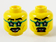 Part No: 3626cpb2751  Name: Minifigure, Head Dual Sided Black Eyebrows and Moustache, Dark Turquoise Star Glasses, Gap in Teeth, Smile / Scared Pattern - Hollow Stud