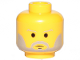 Part No: 3626cps4  Name: Minifigure, Head Beard with SW Gray Beard and Thin Gray Eyebrows Pattern - Hollow Stud