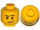 Part No: 3626cpx301  Name: Minifigure, Head Male Smirk, Pupils, Stubble Beard and Moustache and Sideburns Pattern - Hollow Stud