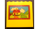Part No: 3754pb20  Name: Brick 1 x 6 x 5 with Picture of House in Brown Frame Pattern (Sticker) - Set 232