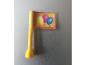 Part No: 3957pb02  Name: Antenna 1 x 4 with Flag with Yellow, Pink and Blue Balloons Pattern (Sticker) - Set 3159