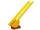 Part No: 4000c01  Name: Ladder 16 x 4 with Semi-Circular Pivot with Red Ladder Holder for Ladder 16 x 4 with Semi-Circular Pivot (4000 / 5)