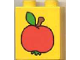 Part No: 4066pb026  Name: Duplo, Brick 1 x 2 x 2 with Apple Pattern
