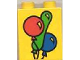 Part No: 4066pb028  Name: Duplo, Brick 1 x 2 x 2 with Three Balloons Pattern