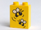Part No: 4066pb031  Name: Duplo, Brick 1 x 2 x 2 with Two Bees Pattern