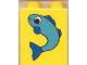 Part No: 4066pb054  Name: Duplo, Brick 1 x 2 x 2 with Fish Small Pattern