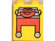 Part No: 4066pb061  Name: Duplo, Brick 1 x 2 x 2 with Red Grill and Hot Dog Pattern