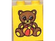 Part No: 4066pb081  Name: Duplo, Brick 1 x 2 x 2 with Teddy Bear and Ball Pattern