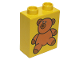 Part No: 4066pb082  Name: Duplo, Brick 1 x 2 x 2 with Brown Teddy Bear Pattern