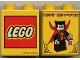 Part No: 4066pb121  Name: Duplo, Brick 1 x 2 x 2 with Halloween 2002 Happy Halloween Pattern (Lego logo)