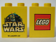 Part No: 4066pb126  Name: Duplo, Brick 1 x 2 x 2 with Star Wars and Lego Logo Pattern
