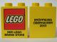 Part No: 4066pb134  Name: Duplo, Brick 1 x 2 x 2 with Eröffnung Oberhausen 2003 Lego Store Opening Pattern