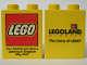 Part No: 4066pb143  Name: Duplo, Brick 1 x 2 x 2 with The Lego Store Kingston 2003 Opening Pattern