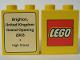 Part No: 4066pb165  Name: Duplo, Brick 1 x 2 x 2 with The Lego Store Brighton 2003 Pattern