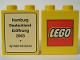Part No: 4066pb166  Name: Duplo, Brick 1 x 2 x 2 with The Lego Store Hamburg 2003 Pattern