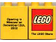 Part No: 4066pb167  Name: Duplo, Brick 1 x 2 x 2 with The Lego Store Moscow 2002 Pattern
